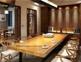 Tabella pranzante di legno solido di stile di modo di vendita e presidenza calde (LL-WST001)