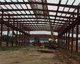 Edificio fabricado colorido del taller de la estructura de acero