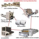 Rullo del tovagliolo della toletta che fa la linea di produzione della macchina unità della laminazione