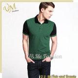 Concevoir la chemise en fonction du client de polo de qualité de coton de combinaison de logo