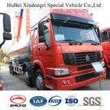 caminhão de petroleiro do combustível de petróleo da gasolina da gasolina do euro 3 de 24cbm Sinotruk HOWO
