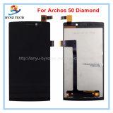 Handy-Touch Screen LCD für Archos 50 Platin-Bildschirmanzeige-Analog-Digital wandler des Diamant-50