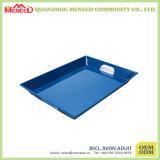 Het in het groot Trillende Blauwe Dienende Dienblad Van uitstekende kwaliteit van de Melamine van de Kleur Grote