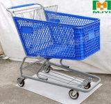 Chariot au détail commode à achats de supermarché de plastique