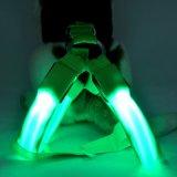 Perro de Nylon recargables LED Chaleco arnés de la correa del cinturón de cuerda arnés Pet