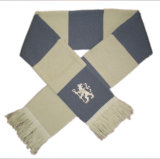 Sciarpe del Knit del tifoso del jacquard (JRI052), sciarpa acrilica, sciarpa lavorata a maglia acrilica
