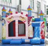 Custom Princesse saut gonflable château gonflable avec toboggan Combo