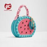 Kleine Tote-Beutel-Wassermelone-Entwurfs-Handtasche mit Schal