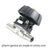 Зажатый мембранный клапан, пневматический клапан управления