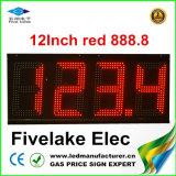 Verde de 8 pulgadas LED indicador del precio del combustible