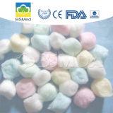 Sfera di cotone assorbente colorata non sterile