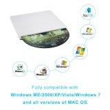 Externe DVD Aandrijving, Externe CD USB Superdrive CD DVD van de Brander van de Aandrijving Externe Speler USB dvd/cd+/-RW voor Laptop/PC/Mac Steun Maximum Osx/(Zilveren) Windows/7/8/10