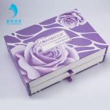 Guía de cajón de 2 piezas a medida UV brillante de cajas de embalaje para Cosmética / Joyas / Don