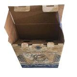 Caixa pequena caixa de acondicionamento de vinho com impressão a cores