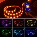 16.4FT/5m esteuerte intelligente LED helle Zeichenkette der intelligente LED Licht-Streifen-Stimmenfür Partei-Ausgangsbeleuchtung