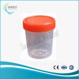 Conteneur de collecte de spécimens de selles en plastique des contenants d'urine Cup