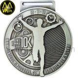 Medaille van de Trofee van de Toekenning van de Sporten van de Marathon van het metaal de Zilveren 3D 5K Lopende