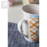 Caneca de café cerâmica original da fábrica 14oz de China da forma do cilindro