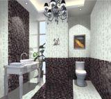 Glattes natürliches Badezimmer deckt Küche-rückseitige Fliese mit Ziegeln