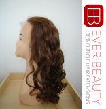 La parrucca indiana della parte anteriore del merletto dei capelli/in pieno merletta la parrucca dei capelli umani della parrucca 100%