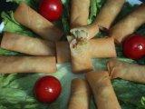 100% fait à la main 25g / pièce de légumes frais rouleau d'oeufs congelés