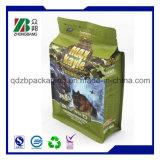 Sacchetto risigillabile del sacchetto della parte inferiore piana per l'imballaggio dell'ossequio dell'animale domestico