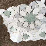 Mattonelle di mosaico Mixed di disegno del fiore del getto di acqua del marmo di colore