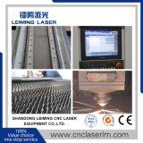 Máquina de estaca Lm3015h3 do laser da fibra da Cheio-Proteção com sistema de alimentação automático
