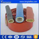 Luva revestida colorida do incêndio da fibra de vidro da borracha de silicone da E-Classe do grande diâmetro
