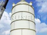 As 50 toneladas pequena aparafusaram o silo do cimento usado no equipamento de construção