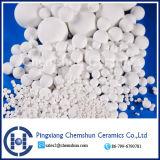 Production de production de boule de céramique à l'alumine inerte comme remplissage chimique (Al2O3: 99%)