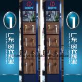 Neue Ankunfts-Aluminiumbadezimmer-Tür mit der Doppelverglasung und neuer Farbe