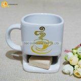 Taza de cerámica de las galletas con la taza de café del sostenedor de la galleta