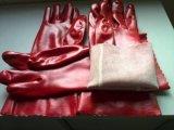Bestand van de Handschoen van de Rode Kleur van pvc Industriële Industriële Chemische,