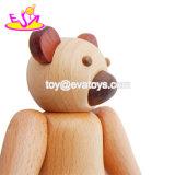 2018 Divertido Oso Mini muñecas de juguete de madera para niños W06D109.