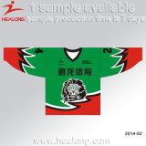 Healong Sublimation passte Stutzen-Eis-Hockey-Jersey-Abnützung des Entwurfs-V an