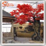 Некоторые оптовые украшения искусственного красный пластиковый кленового дерева