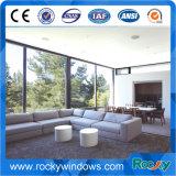 China-Lieferanten-weißes überzogenes Aluminium-örtlich festgelegtes Glasfenster