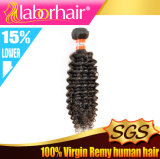 9A couleur noire normale bouclée crépue péruvienne, extensions non transformées de cheveux humains