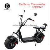 Самокат самоката 1000W Citycoco Wellsmove Harley EL электрический с большими колесами