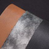 Couro gravado do plutônio do falso da grão do Litchi, couro de sapata sintético