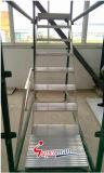 Escalera de andamio de aluminio para andamios