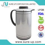 POT esterno del caffè dell'acciaio inossidabile con la ricarica di vetro dentellare (JGBE-S)