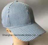 бейсбольная кепка 100%Cotton в ткани нашивки с пряжкой металла (LY074)