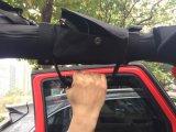 J248 Lantsun Black Car Roll Bar Grab Handles avec sac de rangement / poche pour Jeep Jk Wrangler 2007-2016