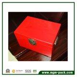 높은 광택 있는 래커를 칠한 나무로 되는 보석 저장 상자