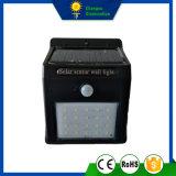 2W lumière solaire de mur du détecteur DEL