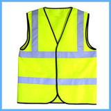 Do amarelo elevado da visibilidade da proteção de segurança veste reflexiva da segurança