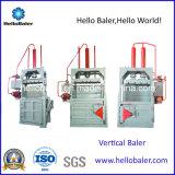 Les déchets de papier/carton/ramasseuse-presse avec certificat CE verticale en plastique