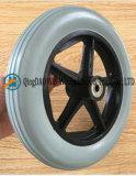 8 인치 편평한 자유로운 PU 거품 휠체어 앞 바퀴